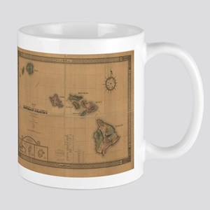 Vintage Map of Hawaii (1876) Mugs